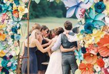 Colorful photo backdrops