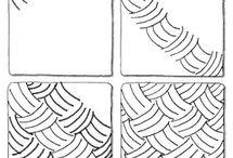 Zentangle patterns & tutorials
