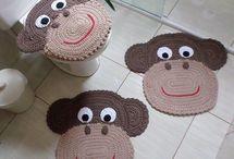 decoração crochê