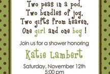 Twins Baby shower / by Kristen Pepi