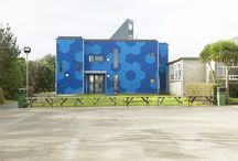 Blue Façades / Trespa Meteon's portfolio offers 11 different shades of blue: 9 Uni Colours and 2 Metallics. Here are some projects clad with this color.