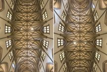 Diptych Churches of New York / Vertical Panorama's of NY Churches from front to back and back to front.