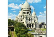 Sacre Coeur Postcards / The Basilica of the Sacred Heart of Paris, commonly known as Sacré-Cœur Basilica and often simply Sacré-Cœur (French: Basilique du Sacré-Cœur, pronounced [sakʁe kœʁ]), is a Roman Catholic church and minor basilica, dedicated to the Sacred Heart of Jesus, in Paris, France. A popular landmark, the basilica is located at the summit of the butte Montmartre, the highest point in the city. Find awesome postcards in this board - for postcrossing or as travel souvenir