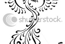 "My Future Tattoo / I'm finally trying to commit to my first tattoo! I'm wanting a phoenix (tribal maybe) wrapped in some sort of elegance (whether it be flowers or a design that resembles flames) all the way up my left side. Open to the idea of color. Also, I want to incorporate the words, ""I am not my own, for I have been made new."""