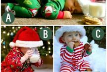 Baby Christmas Cards with Santa