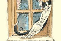 Art illustrations (Anita Jeram) / Chats...