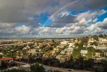 Steven Cox Instagram Photos Sunrise and Rainbows.  #rainbow #sandiego #wow