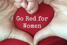 Go red, wear red, pin red for your heart / by Carol French