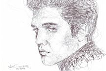 some Portraits 2012-2017 my drawings / drawing portraits with one stroke http://aprilturner.jimdo.com/