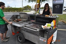 """The Chef Cart (TD 24) by TopDogCarts.com / TD 24 hot dog cart can be used on location on a street, in front of a courthouse, by caterers and in private locations. With a 24"""" griddle, two full size steam tables, ice bin cooler... carry all your needs to feed a large group of hungry people."""