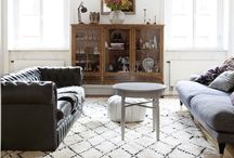 Designing with Moroccan Rugs / Inspiration on how to design with Moroccan rugs