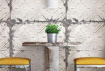 Vintage Tin Tile Peel & Stick Wallpapaer