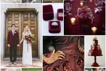 Marsala Inspiration / Pantone Color of the Year Marsala | Inspiration for 2015 weddings and parties | Burgundy | Oxblood | Pomegranate