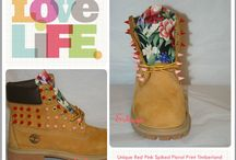 Spiked Studded Timberland Boots / #timberland #timberlands #fashion #art #digitalart #fashionart #custom #spiketimberlands #spike #gold #goldspikes #studded #spikeboots #boots #studdedboots #shoes #americanflag #customize #custom #kicks #urban #style #floral #pink #tropical #prints #designs #tribal #pink #Blue #wheat #painted #eshaysdesigns #redspikes #weed