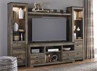 Entertainment Centers / Having the right TV stand or entertainment center can make a big difference in your viewing experience. These TV stands and entertainment centers lend a sense of style to one of your living room's focal points. Choose from simple metal stands with sleek lines and traditional wooden cabinets with ample storage space for all your electronics and consoles.