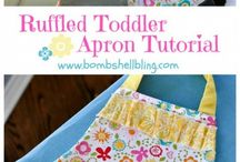 Sewing: Aprons / Free apron patterns for girls, boys and ladies.