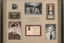Military Service Framing / Honor your Military Hero by displaying Military medals, patches, documents and photos. A Shadowbox Frame is perfect to display their memorabilia and honor their service.  Let Frameworks of Utah help you create your family keepsake.