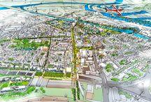 Paisagens urbanas / praças, parques, mobiliários urbanos