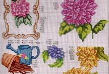 cross stitch dalia