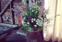 June flowers for Holly's wedding / Grey / cornflower / lavender / white  / pink
