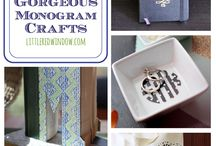 Monogram It! / Projects and products featuring monograms!