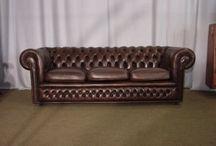 Meubles vintage et canapés chesterfield / Arrivage de nos dernier achats en Angleterre en novembre 2015 Canapés chesterfield et meubles anciens ou vintage !