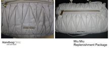 Miu Miu Handbags Repaired and Restored / Photos of stained, damaged, torn, dirty and worn out Miu Miu handbags and purses that we have lovingly cleaned and restored.