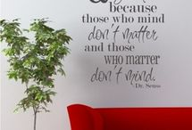 Vinyl wall sayings / by Lisa Torgerson