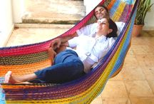 Double Hammocks and 2 Person Hammocks / Info and photos about the recommended Mexican hammocks for couples and two people; for those who want to share their hammock and enjoy the comfort with someone special.