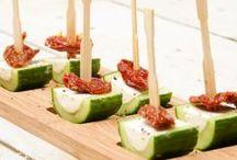 komkommer met kruidenkaas