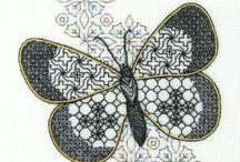 blackwork motyle