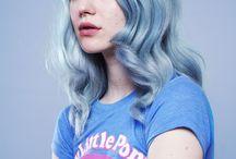 Clara / blue hair, glitter, unicorns, feminist quotes
