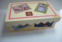 maderas, cristal, etc... / Cosas que hacemos en nuestras clases de manualidades