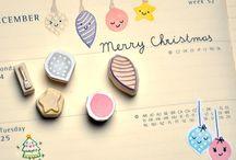 lino christmas cards