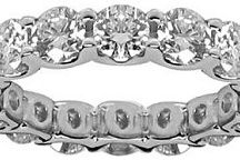 Eternity Rings / This symbol of eternal love is given by a loving husband to his wife at a marriage anniversary or the birth of their child.