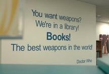 "Book worm / ""Books! The best weapons in the world!"""