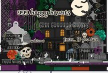 Ghost Host / Digital Scrapbook Kit available at >> http://melidydesigns.com/shop