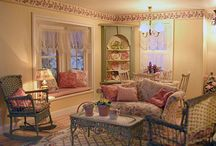 Miniature living and dining rooms