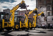Fragile / Motionhouse large scale outdoor show 'Fragile' continues the company's work with dancers and JCB diggers.