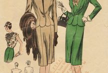 Power Woman / Vintage working woman and vintage power suits.