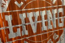 Painting a Graphic on Corrugated Steel Siding / Creating a vintage-looking graphic on corrugated steel siding. You can see the process at: http://bit.ly/1jQFLRr