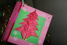 ideas de scrapbooking /  targetas navideñas para regalar