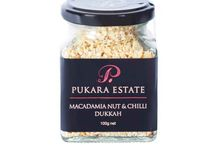 Pukara Estate Dukkahs / To complement the range of award winning Extra Virgin Olive Oils and Vinegars, we also offer a range of Pukara Estate gourmet products including aromatic dukkahs, all made from the finest ingredients.