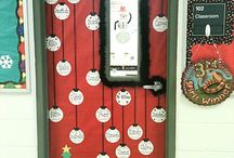Decori natale / Winter classe pin door