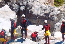 CANYONING MARBELLA/ BENAHAVIS / Our Canyoning in Benahavis near Marbella, is an exhilarating activity which involves navigating down a water course by a combination of walking, climbing, swimming, abseiling, jumping and generally scrambling down the river and its banks.