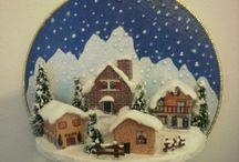 dal WEB - Natale di feltro e tessuto / decorazioni natalizie