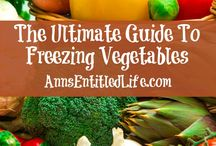 vegetables freezing
