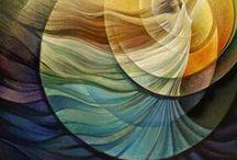 ABSTRACT - FUSION ART / Abstract art Painting