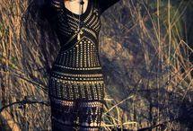 horgolt hosszú ruhák