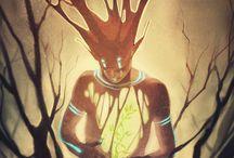 Arbre, Dryade esprit forêt